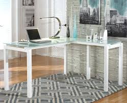 L Shaped White Desk L Shaped White Desk Modern White L Shape Desk With Frosted Glass
