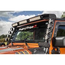 light bar jeep rugged ridge 11232 50 elite fasttrack windshield light bar 07 17