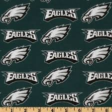 nfl cotton broadcloth philadelphia eagles green silver white