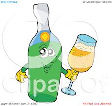 champagne clipart royalty free rf clipart illustration of a happy champagne bottle