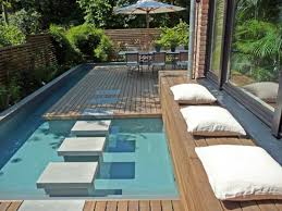 Swimming Pool In Backyard by Cozy Mini Outdoor Swimming Pool In Style Home Design And