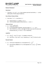 additional mathematics revise your secondary 3 topics