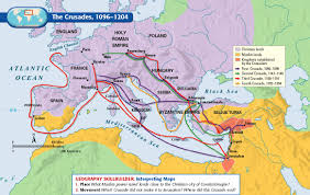 Map Of Constantinople Middle Ages Crusades Map To Use For Crusades Map Assignment