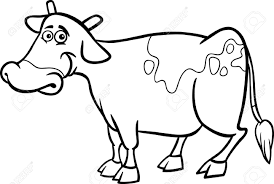 farm animal coloring book black and white cartoon illustration of funny cow farm animal