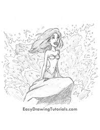 ariel from the little mermaid pencils