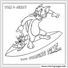 tom jerry surfing 94b4 coloring pages printable