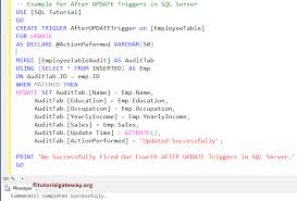 Sql Server Create Table Example After Update Triggers In Sql Server
