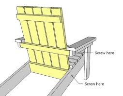 Build An Adirondack Chair Appealing Simple Adirondack Chair And Ana White How To Build A