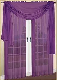 Purple Sheer Curtains Monagifts Purple Scarf Voile Window Panel Solid Sheer