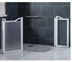 Disabled Half Height Shower Doors Bathroom Adaptation Uk And Ireland Walk In Shower Trays Level