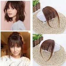 Light Brown Hair Extensions Air Fringe Bangs Clip In Human Hair Extensions Light Brown 6