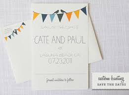 custom save the dates bunting do it yourself save the dates