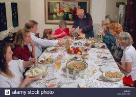 three generations gather for thanksgiving dinner in laguna niguel