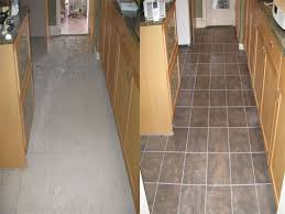 Ceramic Tile Flooring Installation Before And After Of Kitchen Ceramic Tile Floor Installation Yelp