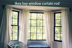 diy bay window curtain rod for less than 10 diy bay window curtains bay window curtain rod and bay window curtains