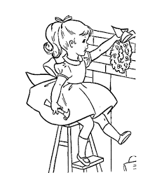 christmas decor coloring pages a little with decorations