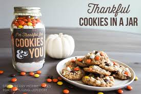thankful cookies in a jar jar cookies for those you re