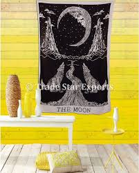 urban moon tapestry crying wolf bedding single indian wall