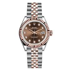 bracelet rolex images Rolex datejust 28 steel and rose gold chocolate diamond dial jpg