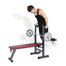 tomshoo adjustable folding weight lifting flat incline bench