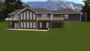 walk in basement house plans with daylight walkout basement 1729