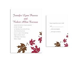 Cheap Wedding Invitations And Rsvp Cards Fall Wedding Invitation Templates Blank