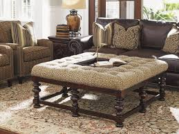 ottomans tufted ottoman coffee table brown leather cube round