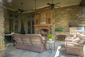 covered back porch with fireplace home design ideas