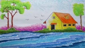 best scenery drawing image best natural scenery pictures pencil