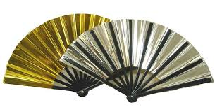 decorative fans gold and silver folding fan 10gs home kitchen