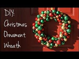diy christmas ornament wreath youtube