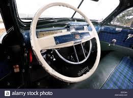 chrysler steering wheel interior and art deco speedo and dashbaord of 1941 chrysler stock