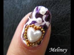 animal print nail design cougar love konad stamping nail art