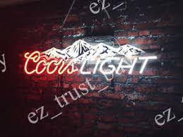 coors light bar sign rare new coors light mountain beer neon sign 24 x16 ebay