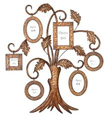 metal family tree frame photo display wall hanging copper color