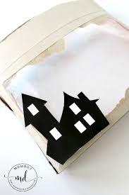 haunted house craft shadow box diy momdot
