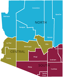 County Map Of Arizona by Poetry Out Loud Arizona Commission On The Arts