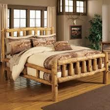 Wood Log Bed Frame Aspen Log Bed Aspen Logs And Summer Cabins