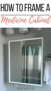 picture frame medicine cabinet diy bathroom medicine cabinet frame