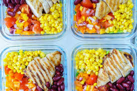 clean eating meal prep deconstructed chicken burrito bowls