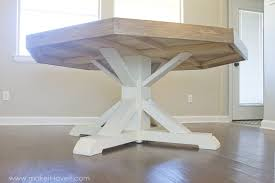 DIY Octagon Dining Room Tablewith A Farmhouse Base Make It - Octagon kitchen table