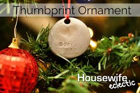 tutorial thumbprint ornament eclectic