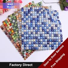 aliexpress com buy rainbow iridescent glazed glass mosaic tile