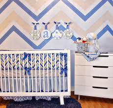 Modern Baby Boy Crib Bedding by White Stained Wooden Baby Boy Crib With Wafe Pattern Bedding And