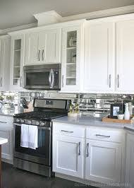 mirror backsplash in kitchen kitchen awesome gray backsplash kitchen gray subway tile