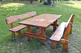 Picnic Table Plans Free Separate Benches by 31 Alluring Picnic Table Ideas