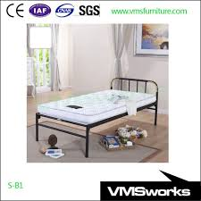 Single Bed Iron Frame China Cheap Iron Cheap Iron Size Metal Single Bed Frames