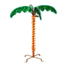shop central pre lit palm tree with constant multicolor