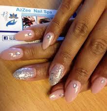 a2zee beauty spa in san jose ca u2014 pink gel glam nails with glitter