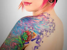 for arms colorful upper arm tattoo ideas women shoulder tattoos